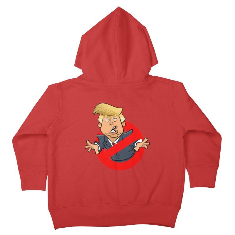 Trump Busters Kids Toddler Zip-Up Hoody by binarygod's Artist Shop