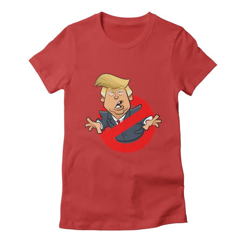 Trump Busters Women's Fitted T-Shirt by binarygod's Artist Shop