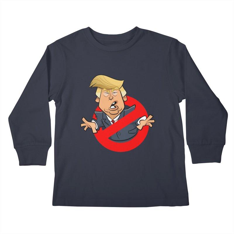 Trump Busters Kids Longsleeve T-Shirt by binarygod's Artist Shop