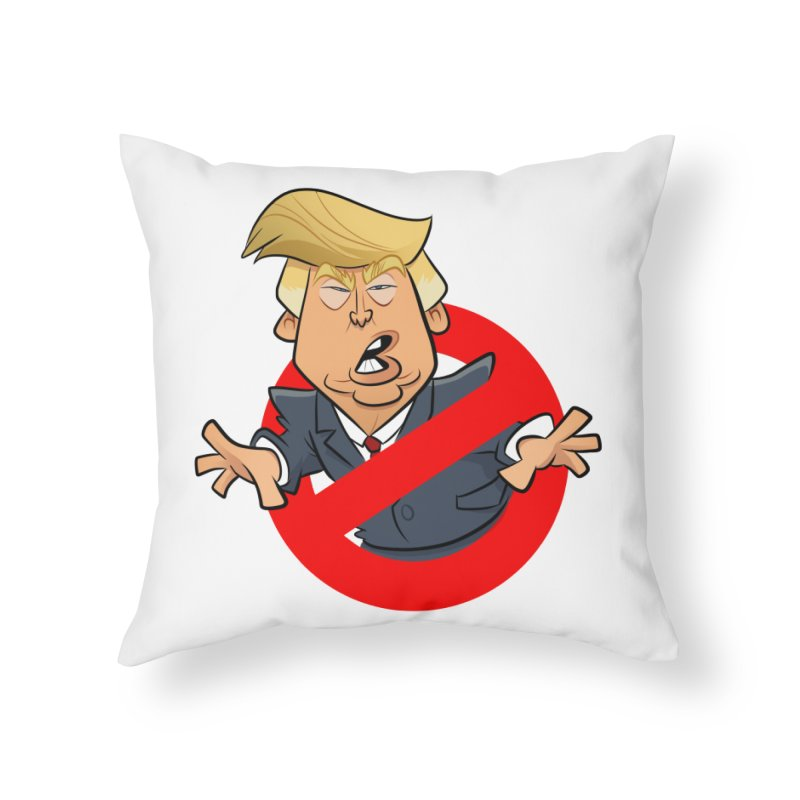 Trump Busters Home Throw Pillow by binarygod's Artist Shop