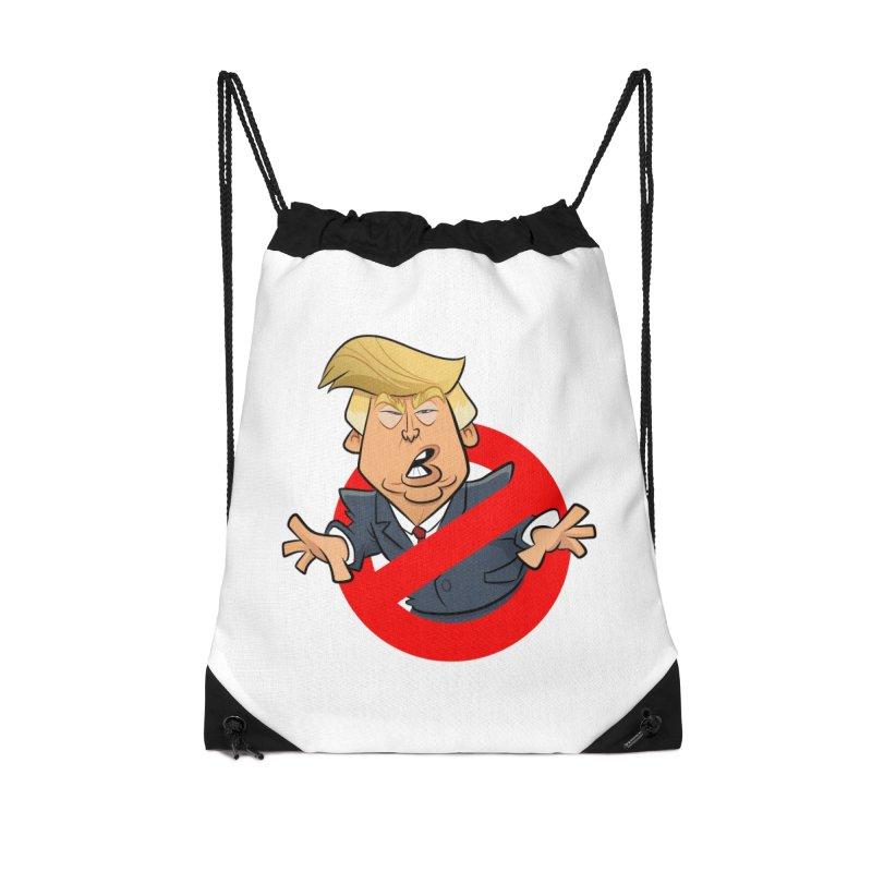 Trump Busters Accessories Drawstring Bag Bag by binarygod's Artist Shop