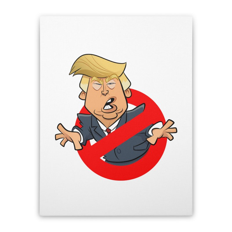 Trump Busters Home Stretched Canvas by binarygod's Artist Shop
