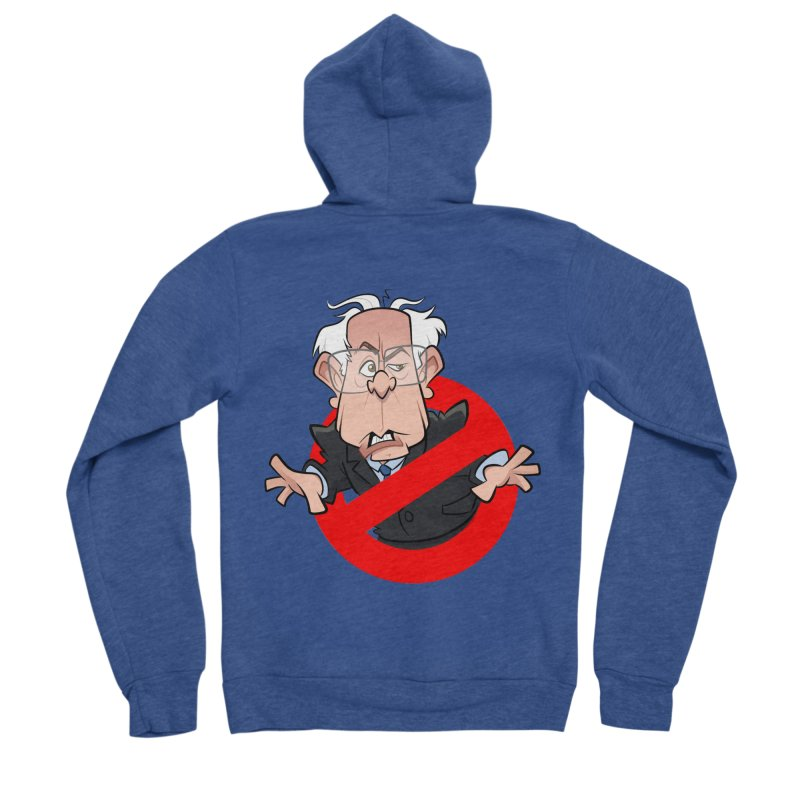 Bernie Busters Women's Sponge Fleece Zip-Up Hoody by binarygod's Artist Shop