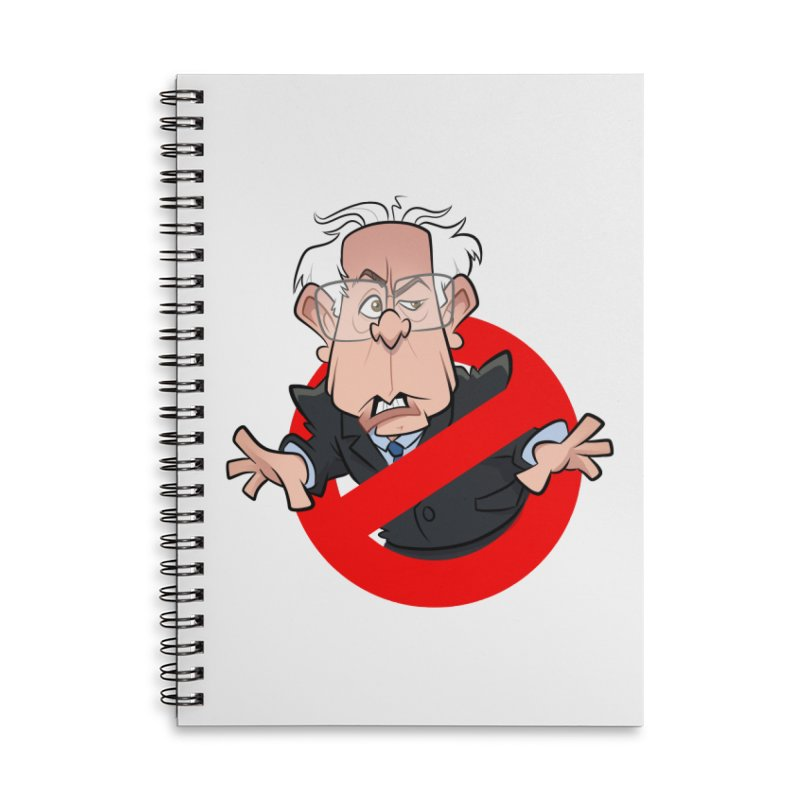 Bernie Busters Accessories Lined Spiral Notebook by binarygod's Artist Shop