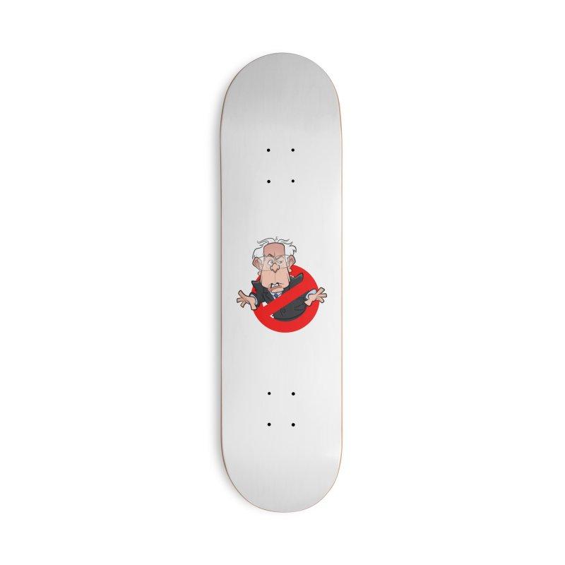 Bernie Busters Accessories Skateboard by binarygod's Artist Shop