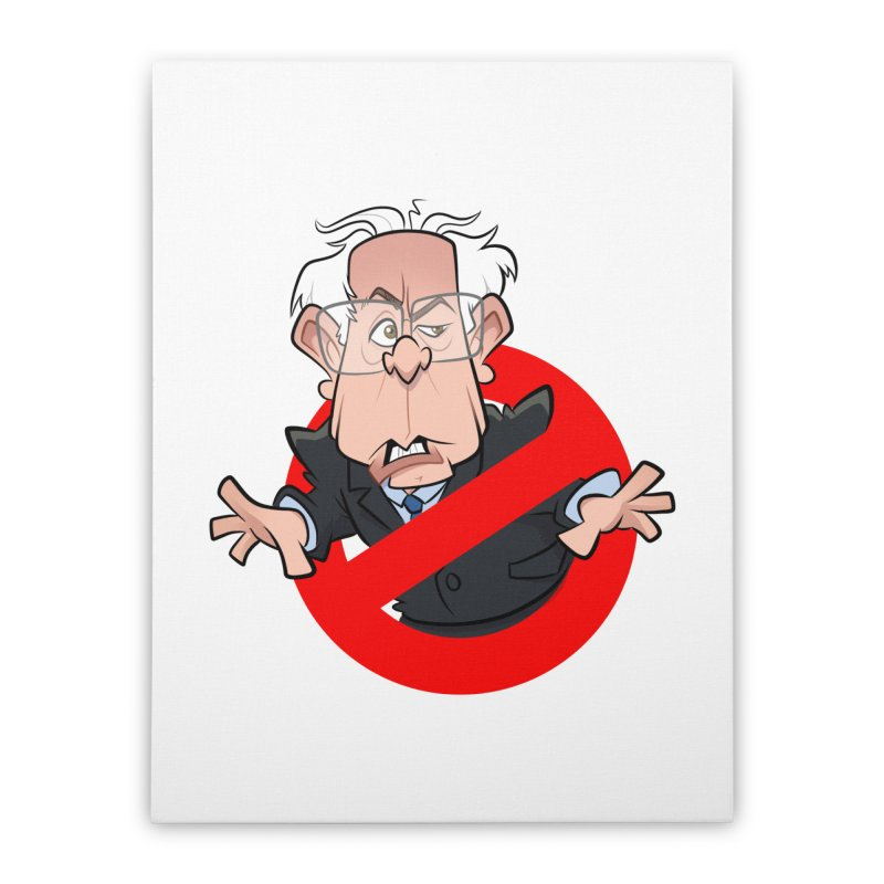 Bernie Busters Home Stretched Canvas by binarygod's Artist Shop