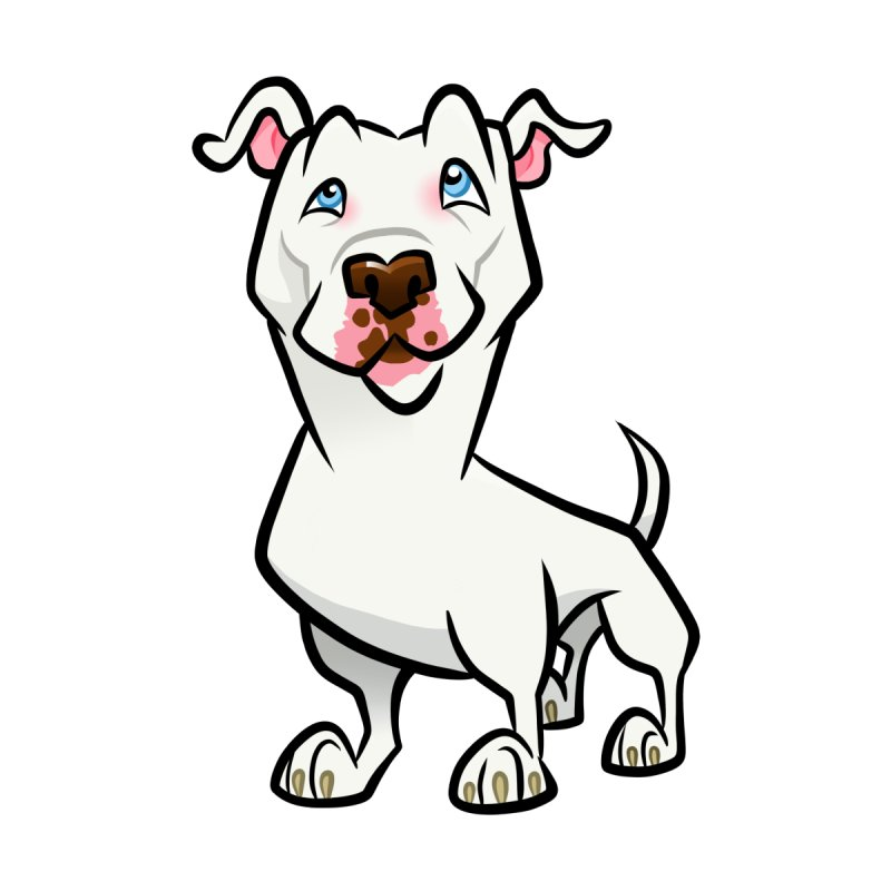 White Pit Bull Accessories Button by binarygod's Artist Shop