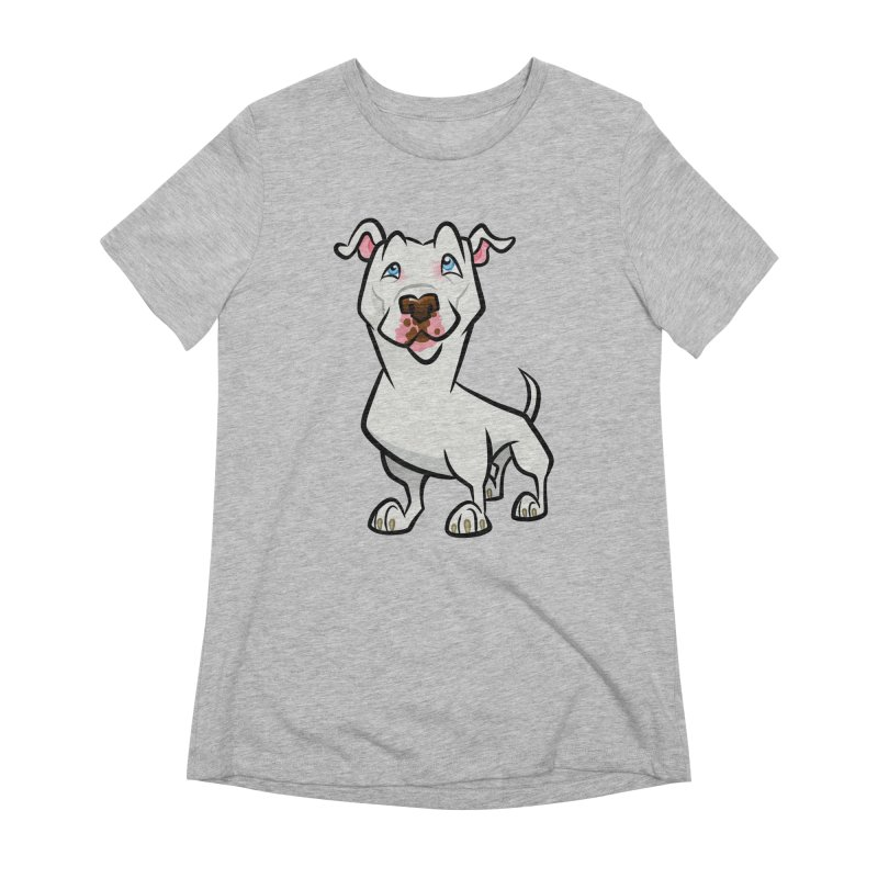 White Pit Bull Women's Extra Soft T-Shirt by binarygod's Artist Shop