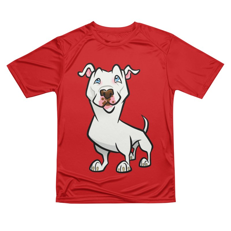 White Pit Bull Men's Performance T-Shirt by binarygod's Artist Shop