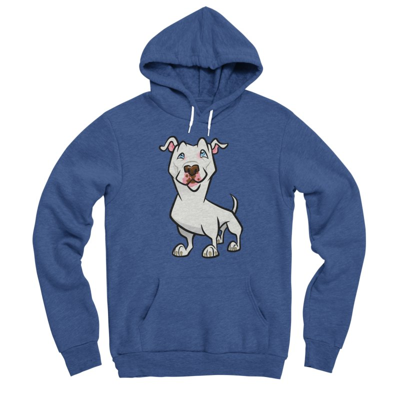 White Pit Bull Women's Sponge Fleece Pullover Hoody by binarygod's Artist Shop