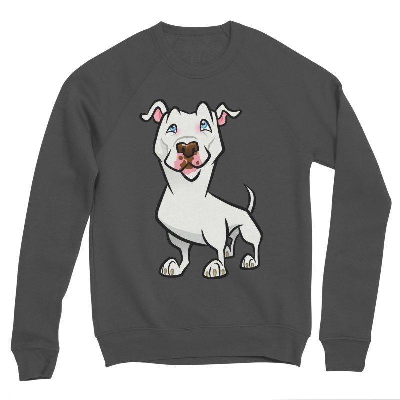 White Pit Bull Women's Sponge Fleece Sweatshirt by binarygod's Artist Shop