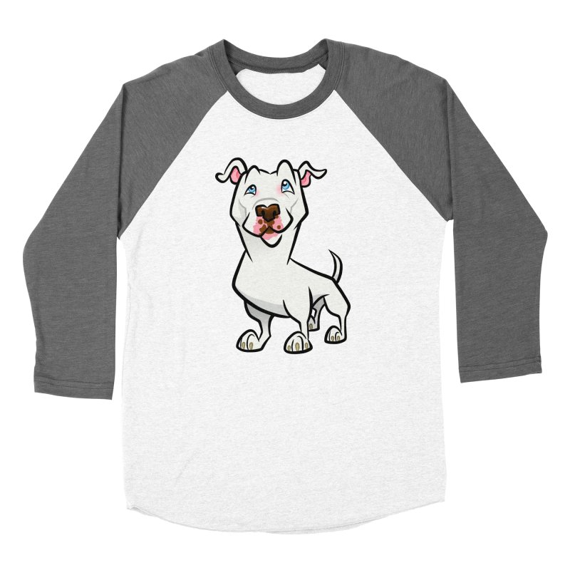 White Pit Bull Women's Longsleeve T-Shirt by binarygod's Artist Shop
