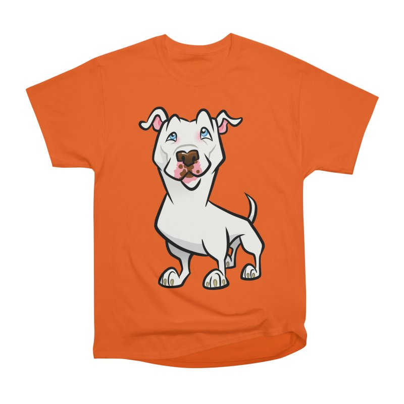 White Pit Bull Women's Heavyweight Unisex T-Shirt by binarygod's Artist Shop
