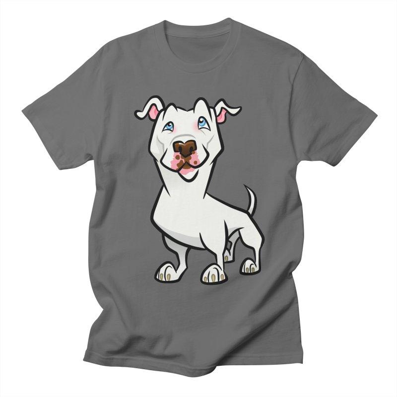 White Pit Bull Men's T-Shirt by binarygod's Artist Shop