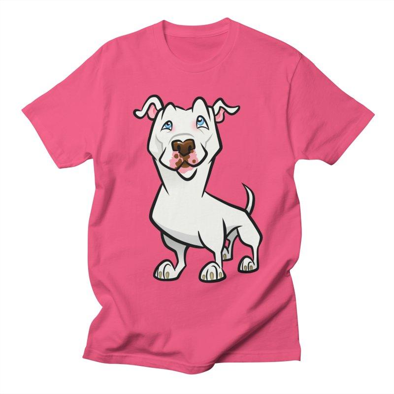 White Pit Bull Women's Regular Unisex T-Shirt by binarygod's Artist Shop