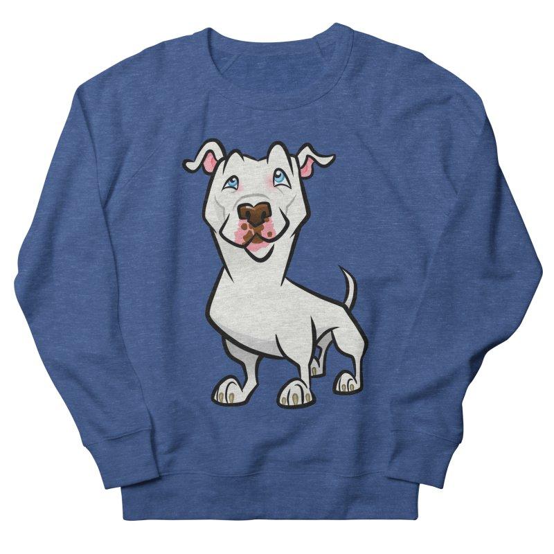 White Pit Bull Men's Sweatshirt by binarygod's Artist Shop