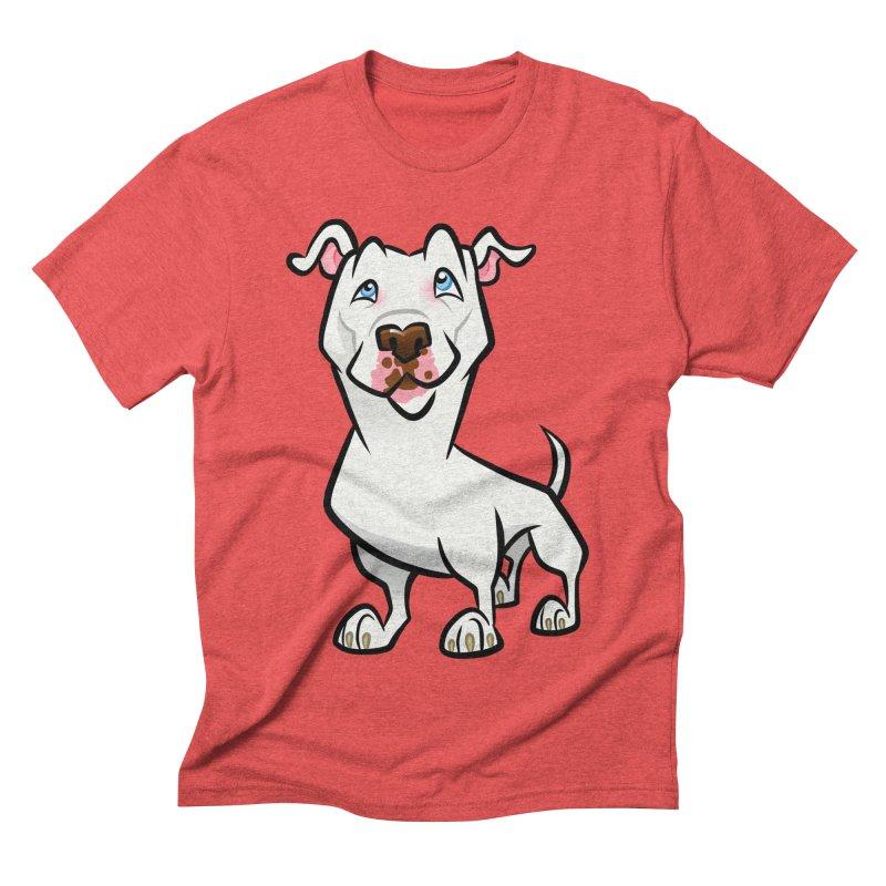 White Pit Bull Men's Triblend T-Shirt by binarygod's Artist Shop