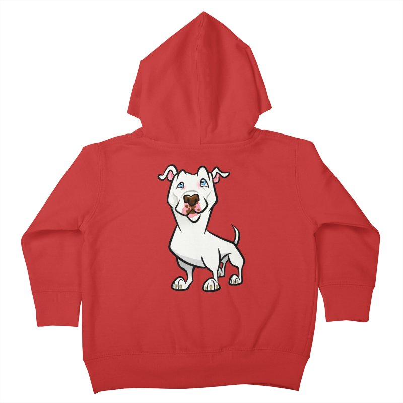 White Pit Bull Kids Toddler Zip-Up Hoody by binarygod's Artist Shop