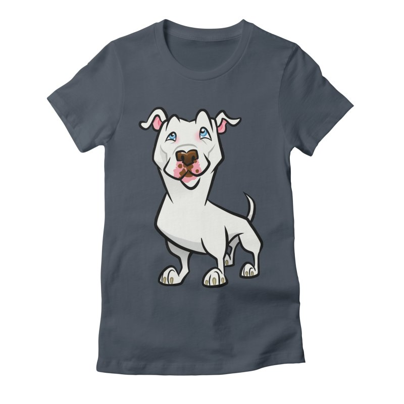 White Pit Bull Women's T-Shirt by binarygod's Artist Shop