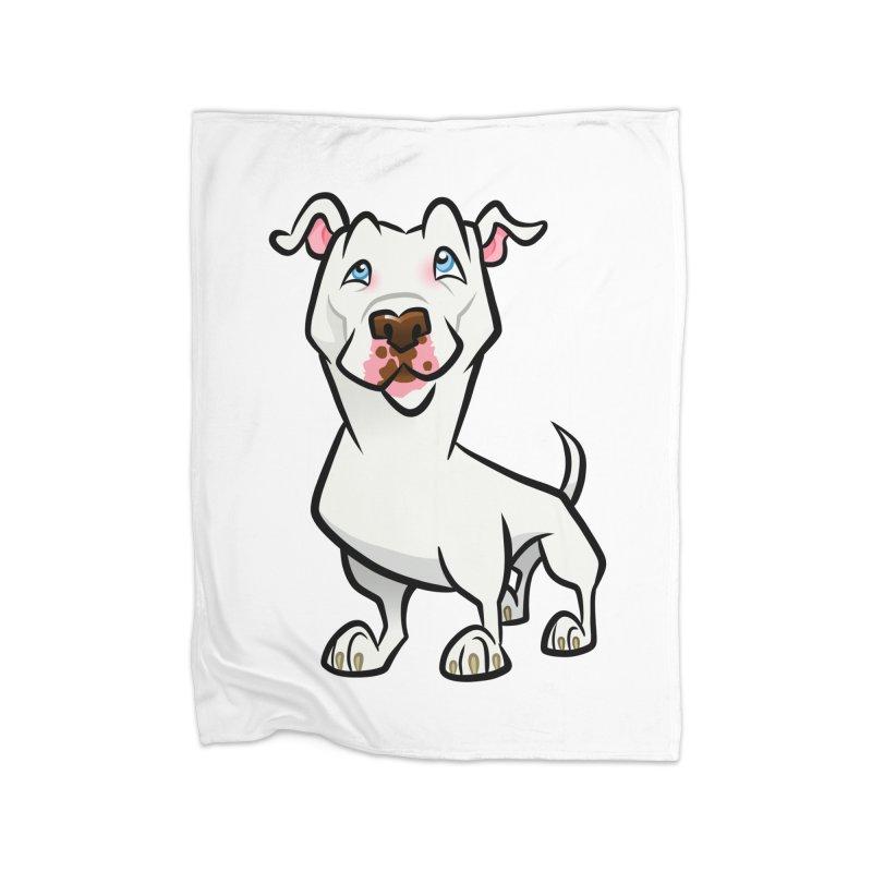 White Pit Bull Home Blanket by binarygod's Artist Shop