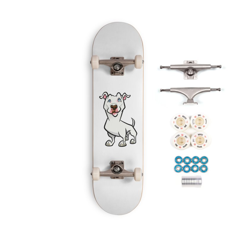 White Pit Bull Accessories Complete - Premium Skateboard by binarygod's Artist Shop