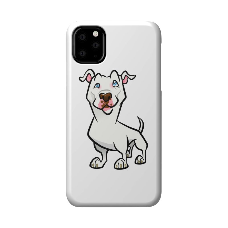 White Pit Bull Accessories Phone Case by binarygod's Artist Shop