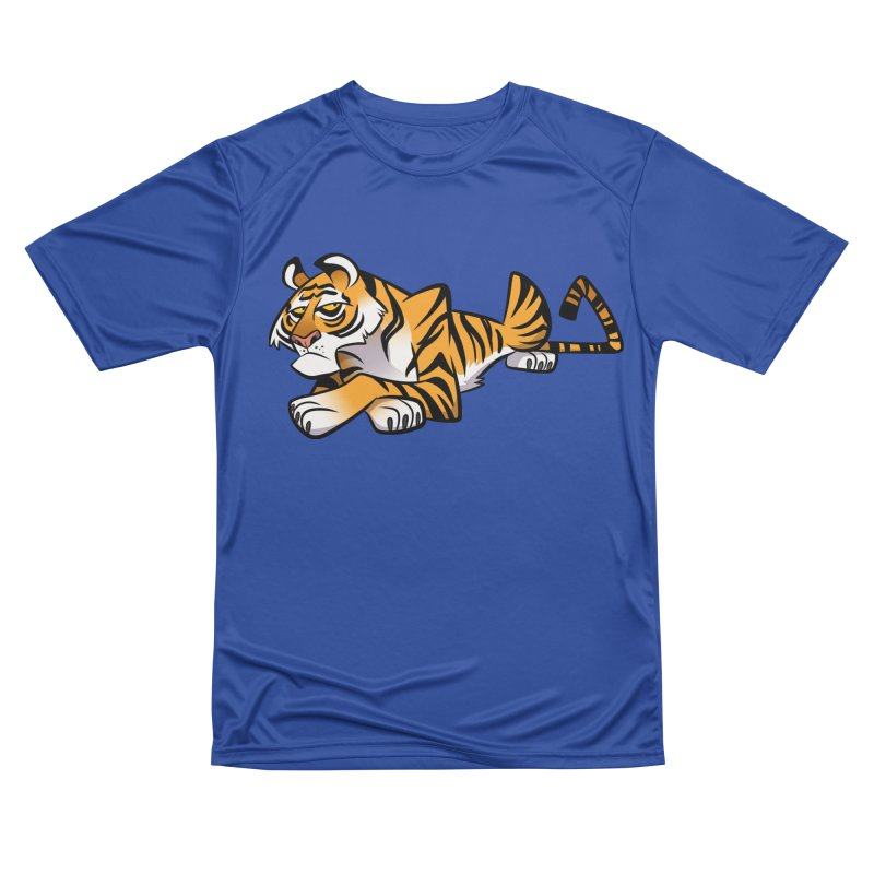 Tiger Caricature Men's Performance T-Shirt by binarygod's Artist Shop