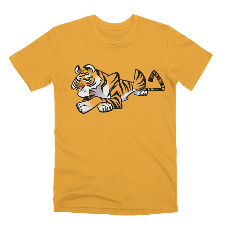 Tiger Caricature Men's Premium T-Shirt by binarygod's Artist Shop