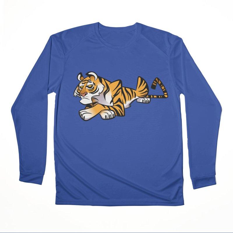 Tiger Caricature Women's Performance Unisex Longsleeve T-Shirt by binarygod's Artist Shop