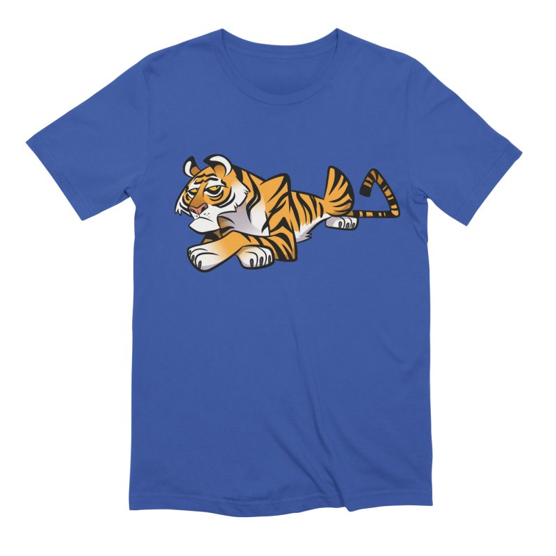 Tiger Caricature Men's Extra Soft T-Shirt by binarygod's Artist Shop