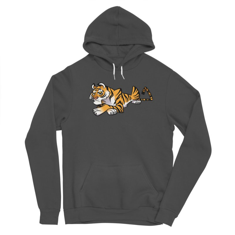 Tiger Caricature Women's Sponge Fleece Pullover Hoody by binarygod's Artist Shop