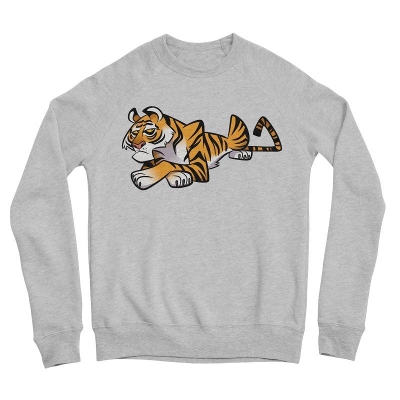 Tiger Caricature Women's Sponge Fleece Sweatshirt by binarygod's Artist Shop
