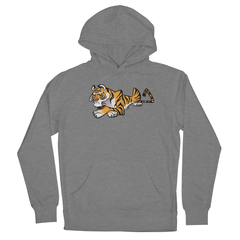 Tiger Caricature Women's Pullover Hoody by binarygod's Artist Shop