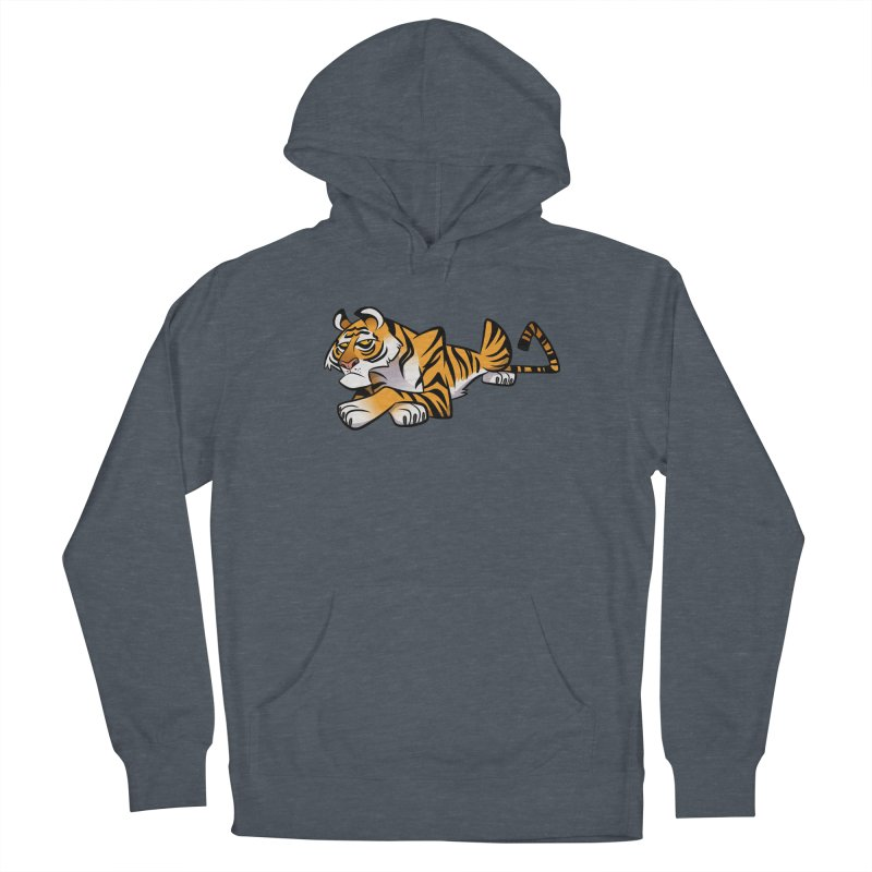 Tiger Caricature Women's French Terry Pullover Hoody by binarygod's Artist Shop