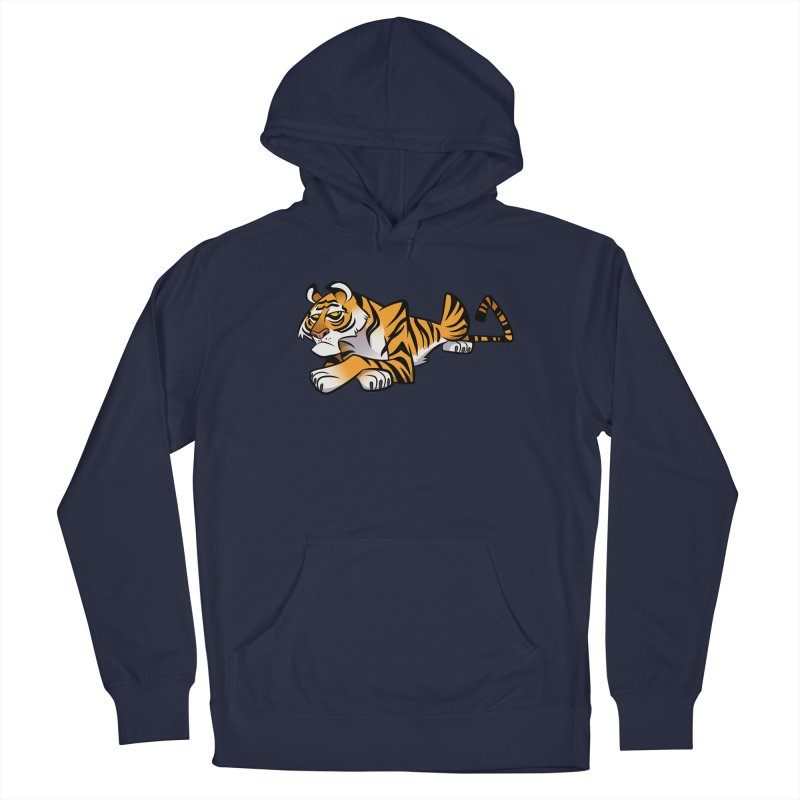 Tiger Caricature Men's Pullover Hoody by binarygod's Artist Shop