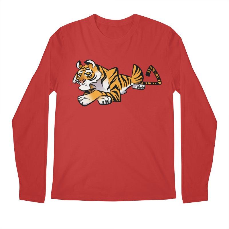 Tiger Caricature Men's Regular Longsleeve T-Shirt by binarygod's Artist Shop