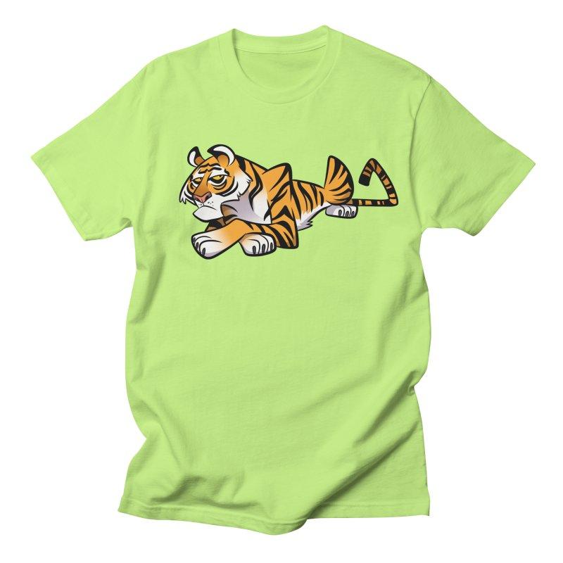 Tiger Caricature Men's Regular T-Shirt by binarygod's Artist Shop