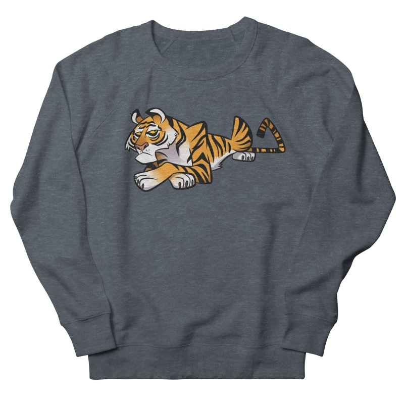 Tiger Caricature Men's French Terry Sweatshirt by binarygod's Artist Shop