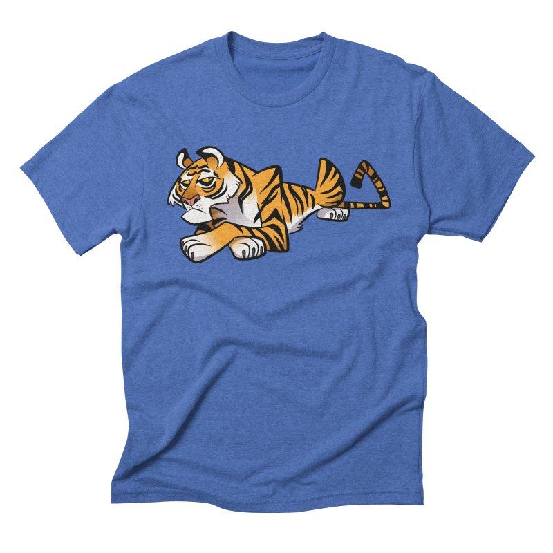 Tiger Caricature Men's T-Shirt by binarygod's Artist Shop