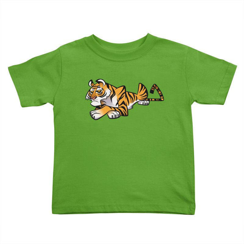 Tiger Caricature Kids Toddler T-Shirt by binarygod's Artist Shop