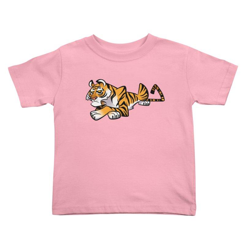 Tiger Caricature Kids Toddler T-Shirt by binarygod's Artist Shop