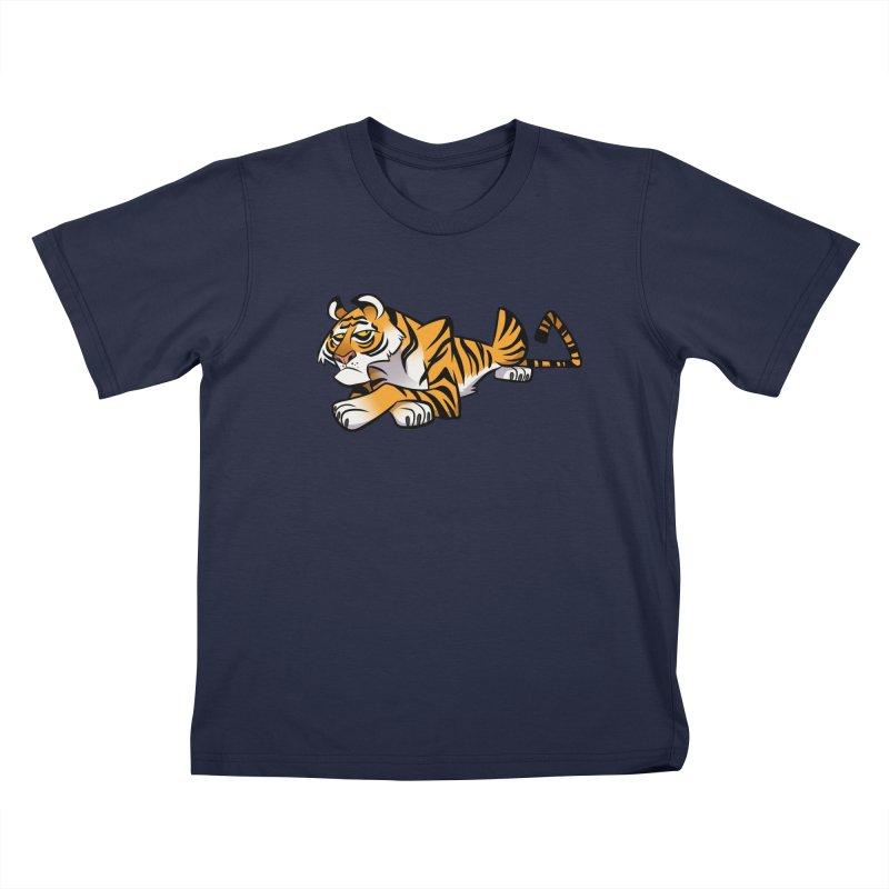 Tiger Caricature Kids T-Shirt by binarygod's Artist Shop