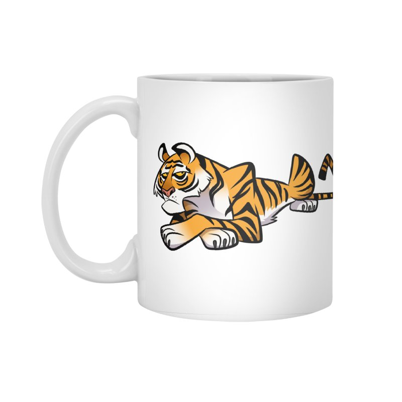 Tiger Caricature Accessories Standard Mug by binarygod's Artist Shop
