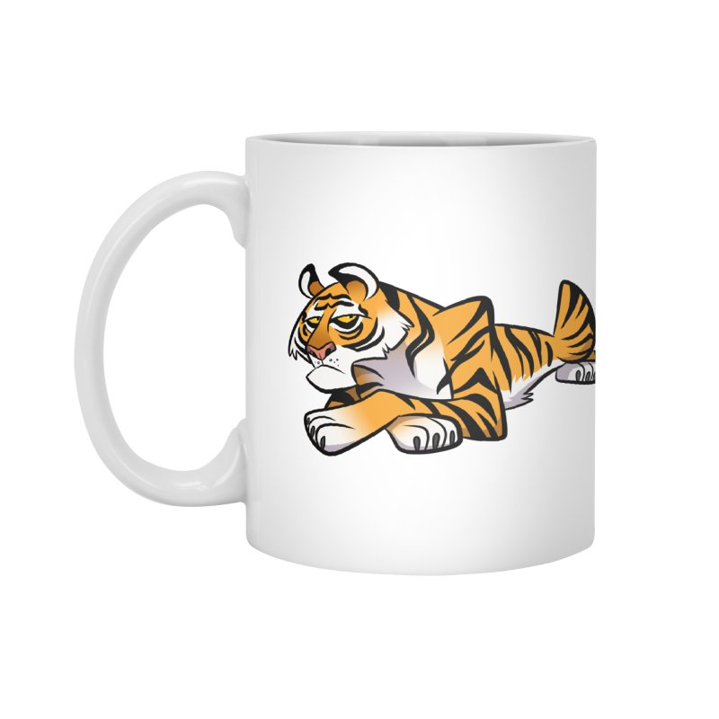 Tiger Caricature Accessories Mug by binarygod's Artist Shop