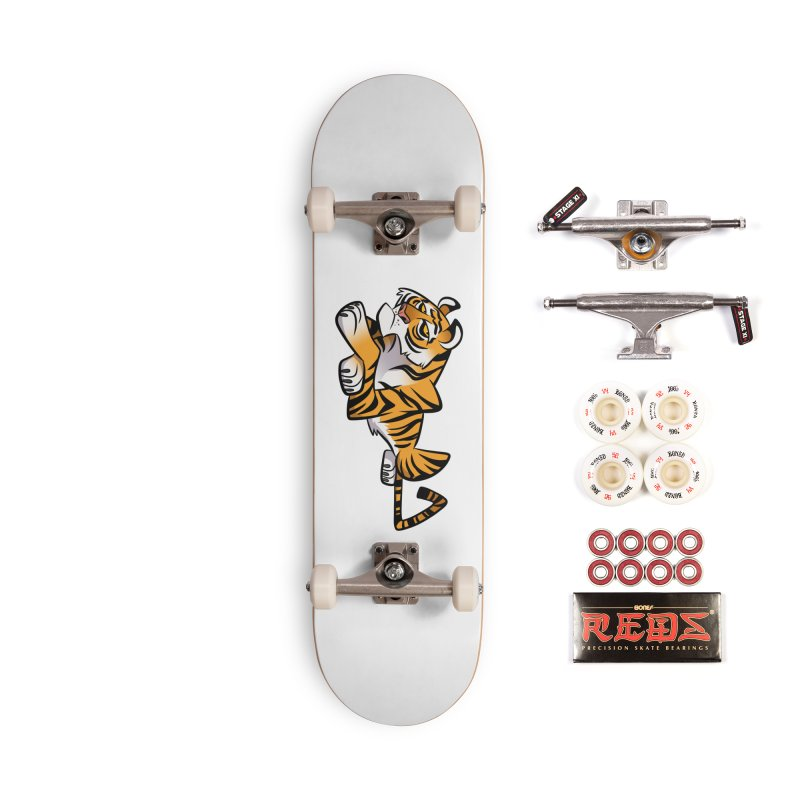 Tiger Caricature Accessories Complete - Pro Skateboard by binarygod's Artist Shop