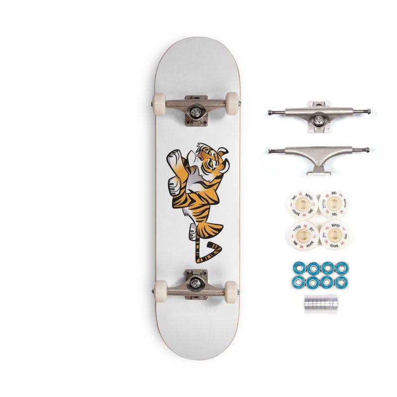 Tiger Caricature Accessories Complete - Premium Skateboard by binarygod's Artist Shop