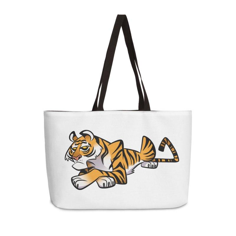 Tiger Caricature Accessories Weekender Bag Bag by binarygod's Artist Shop