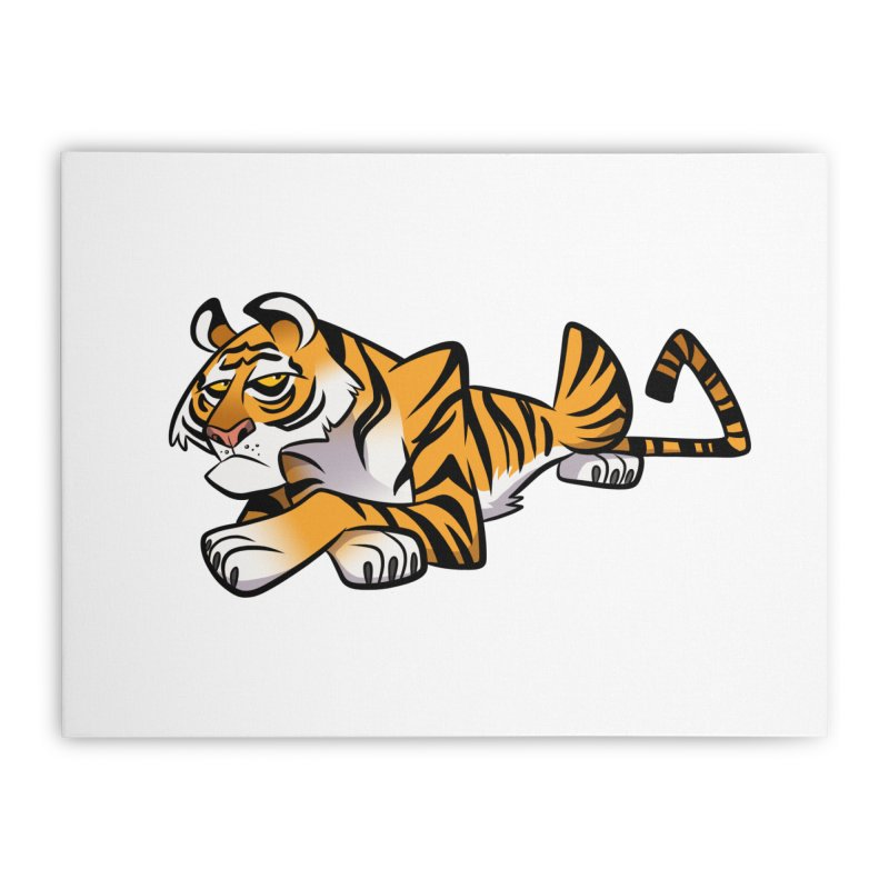 Tiger Caricature Home Stretched Canvas by binarygod's Artist Shop