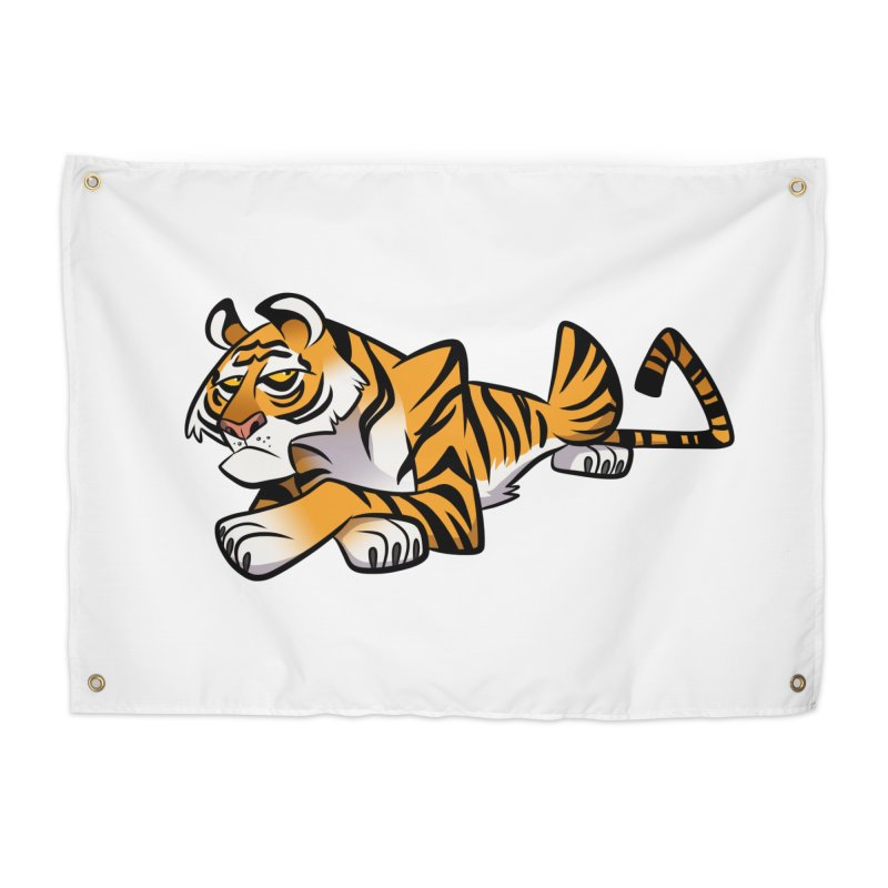 Tiger Caricature Home Tapestry by binarygod's Artist Shop