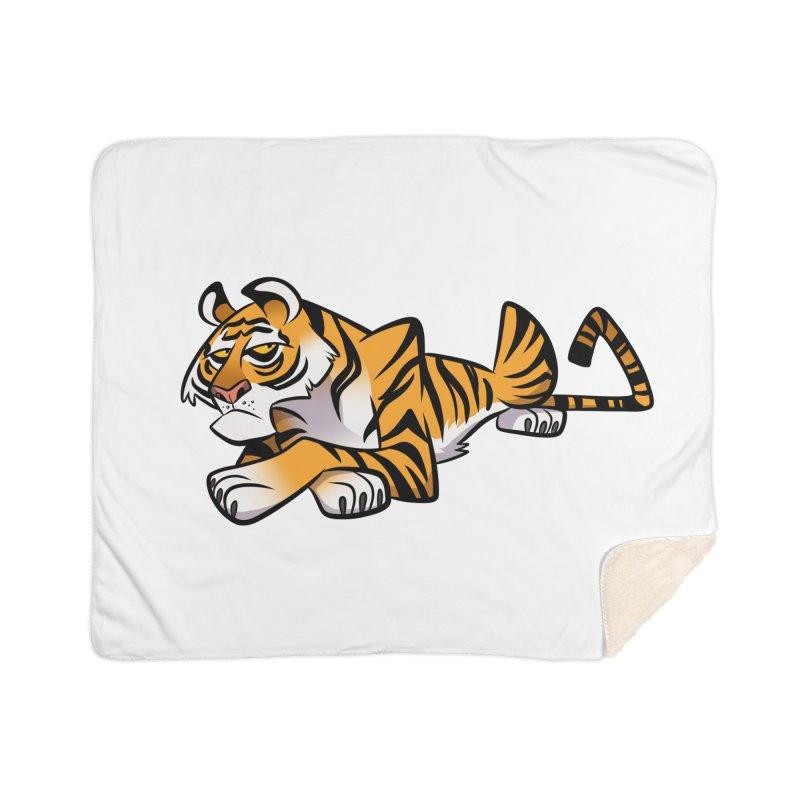Tiger Caricature Home Blanket by binarygod's Artist Shop